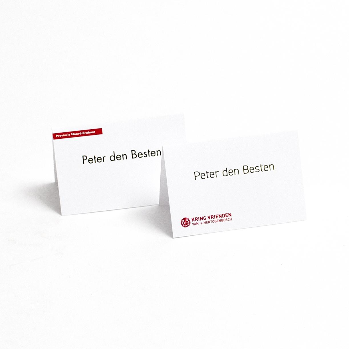 Naamkaartjes Voor Tafelschikking Met Uw Eigen Logo